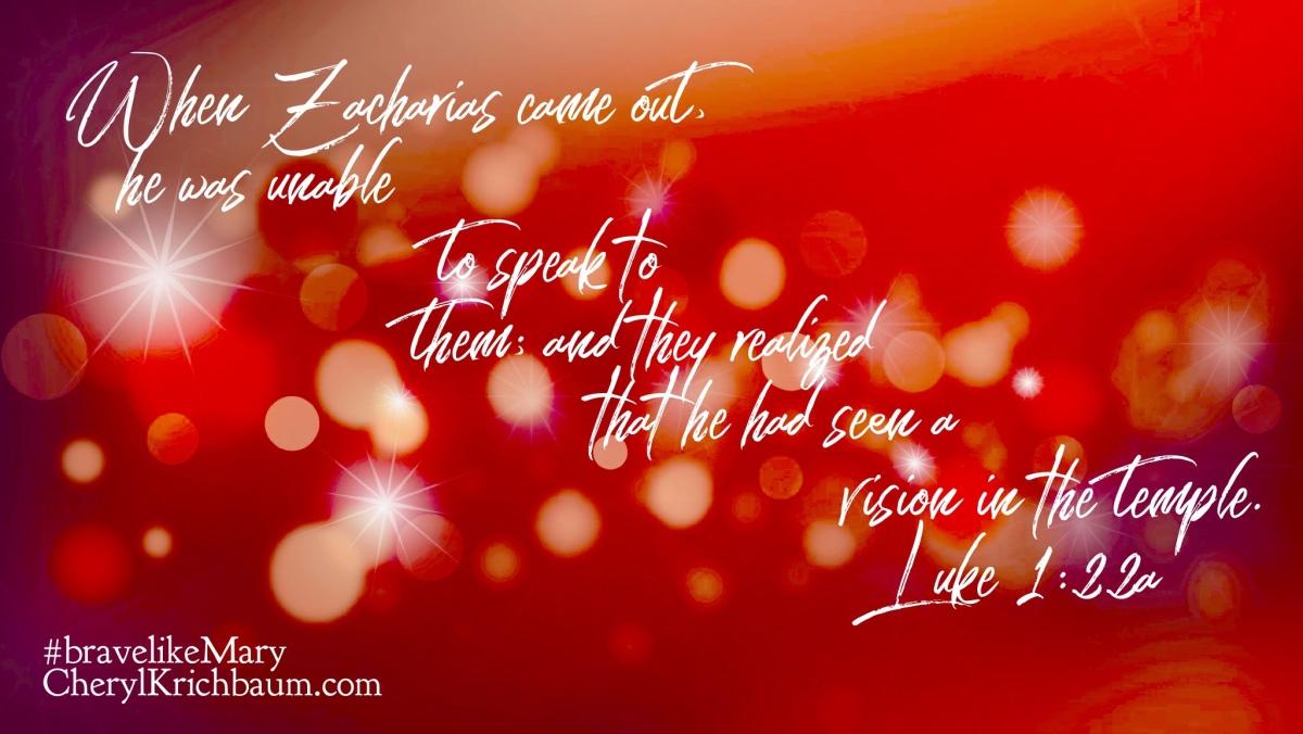 Zacharias' Inconvenience Brought God Glory! (#BraveLikeMarySeries)