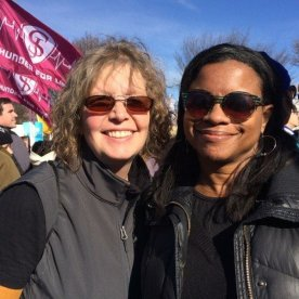 My friend Jennifer and I. We marched together for women of all colors.