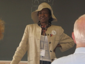 Photo of Dr. Mildred Fay Jefferson speaking