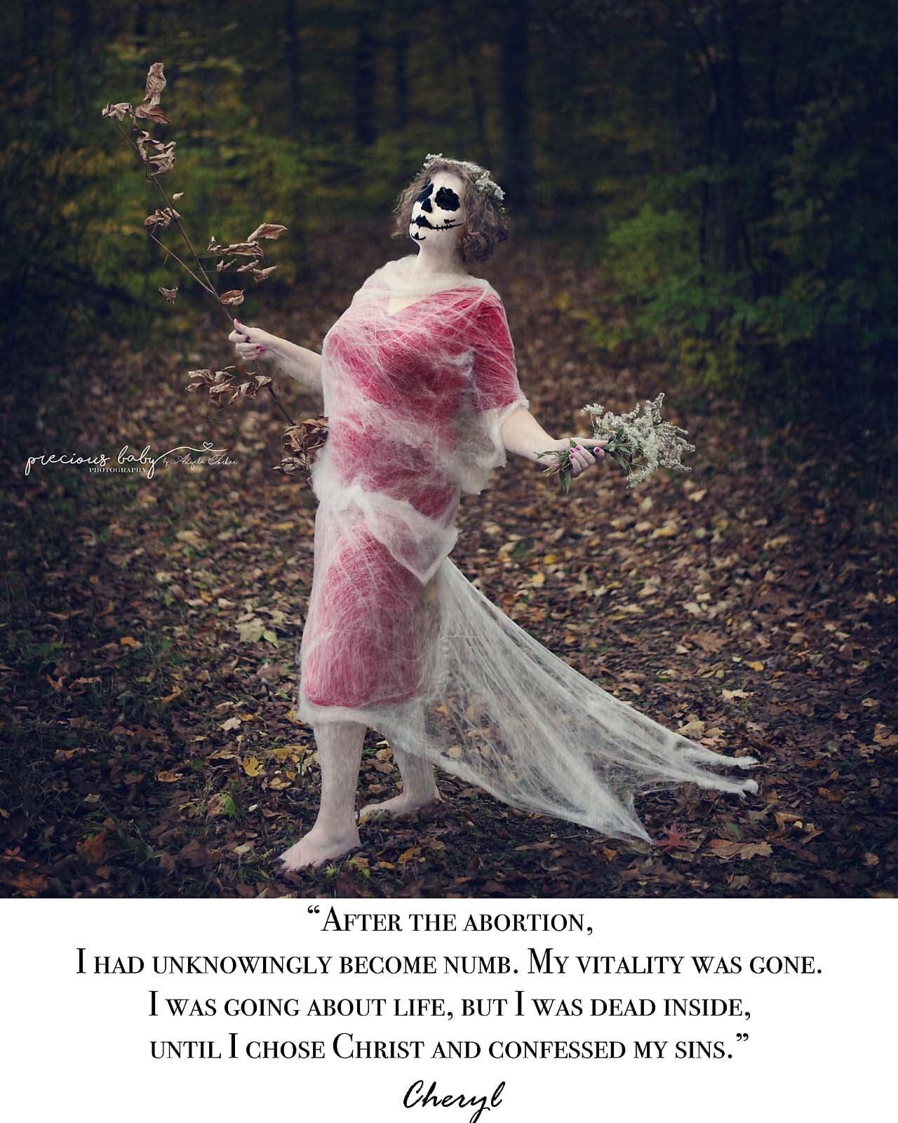 Cheryl as the walking dead